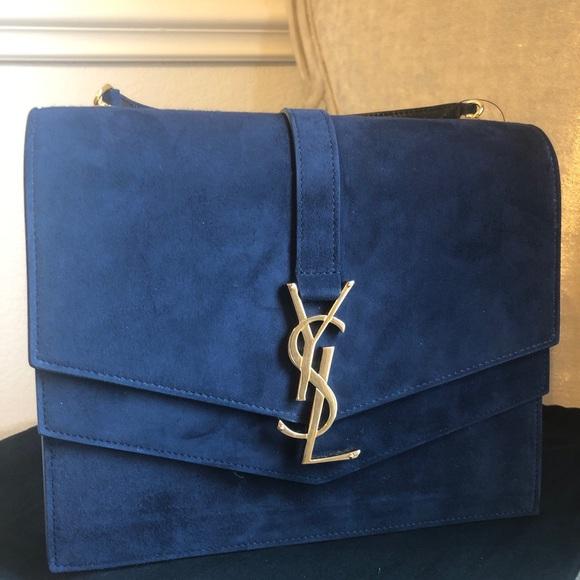 069cfac09116 Saint Laurent Sulpice Medium Bag -in Suede Leather